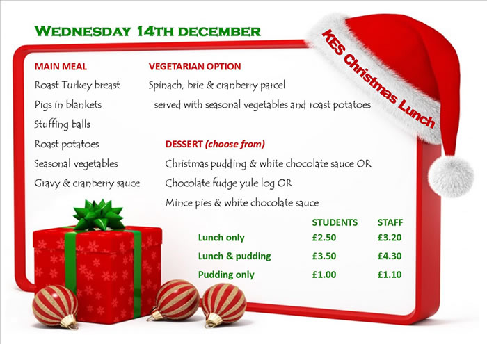 Canteen Christmas lunch poster700