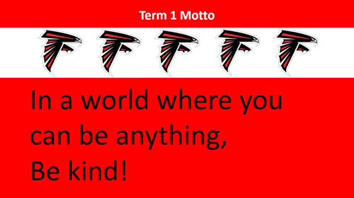 Term 1 Motto Falcons